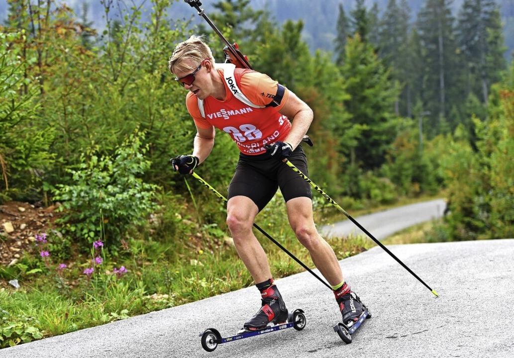 Roman Rees, Biathlet vom SV Schauinsla... DM mit den Ränge zwei, vier und neun.  | Foto: Christian Einecke (imago)