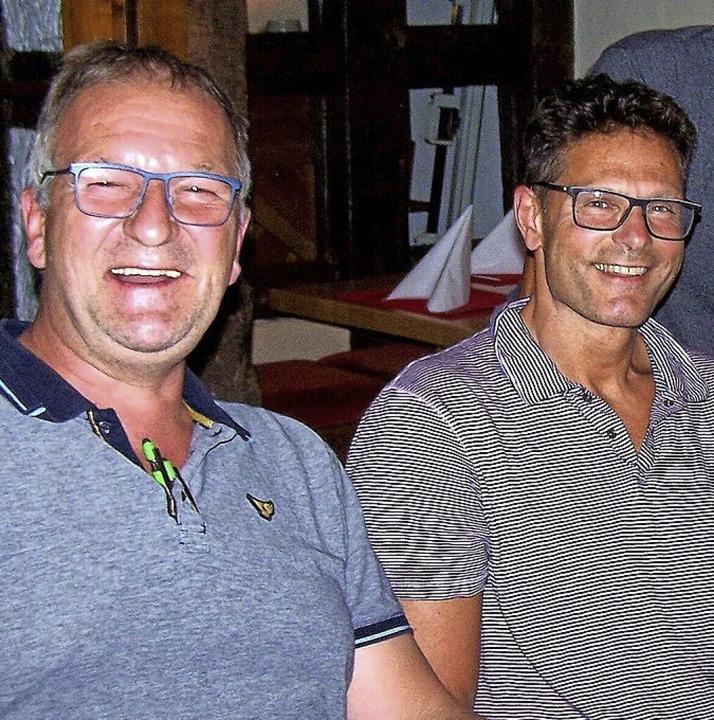 Der neue Zunftvogt Jochen Herkommer (rechts) und Vize Paul Flamm.  | Foto: Hans Sigmund