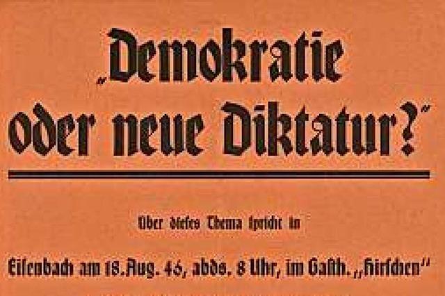 Vor 75 Jahren gab es die erste freie Wahl im Südwesten nach der Nazidiktatur