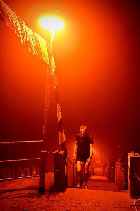In der Nacht versagte sich  Becker ein Nickerchen.  | Foto: Privat