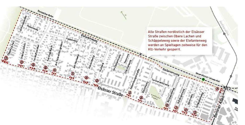 Diese Karte informiert über die verschiedenen Sperrungen.  | Foto: Stadt Freiburg