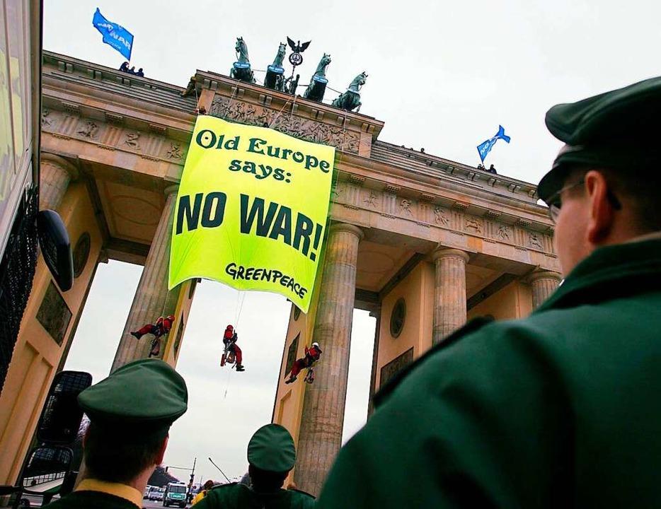Proteste am Brandenburger Tor 2003...  | Foto: Miguel_Villagran