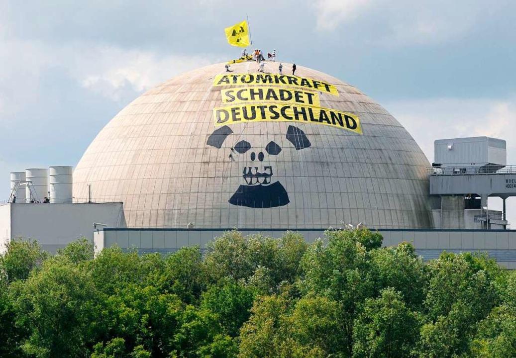 ...gegen Atomkraft im niedersächsischen Nordenham..  | Foto: Ingo Wagner (dpa)