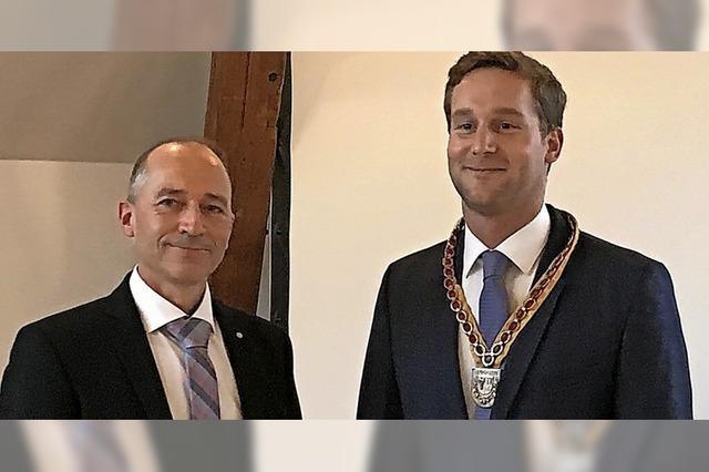 Auggens neuer Bürgermeister ist offiziell im Amt