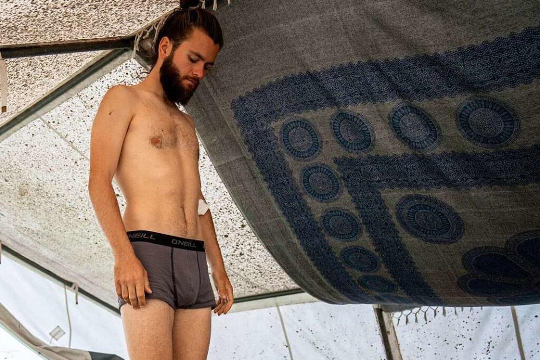 Seit 17 Tagen ist Jacob Heinze bereits  im Hungerstreik.  | Foto: Kay Nietfeld (dpa)