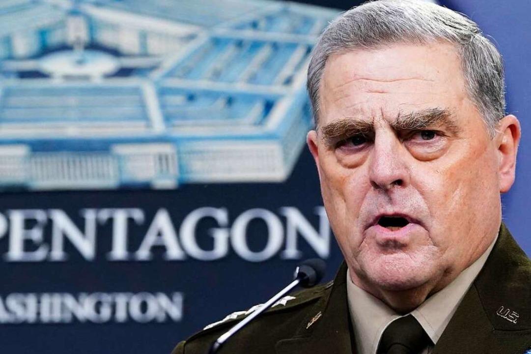 US-Generalstabschef Mark Milley  | Foto: Susan Walsh (dpa)