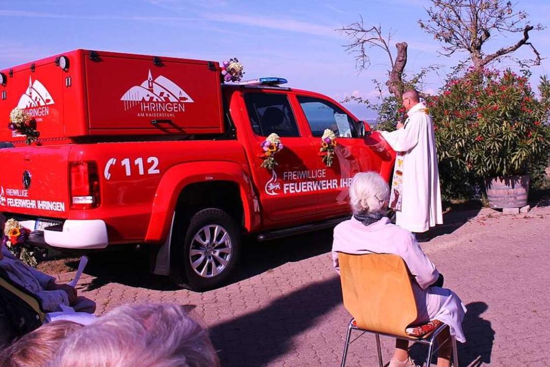 Bei der Segnung am Blankenhornsberg  | Foto: Bianca Voss