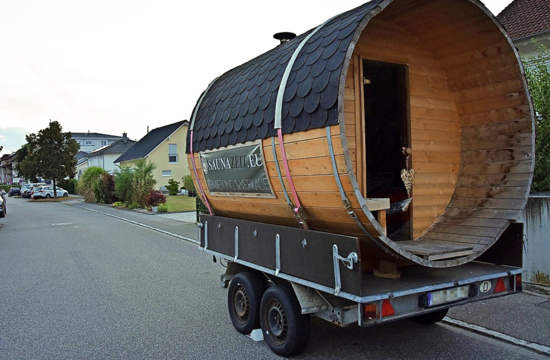 Dieses Saunafass sorgt derzeit für Jubel und Aufregung.  | Foto: Heinz und Monika Vollmar