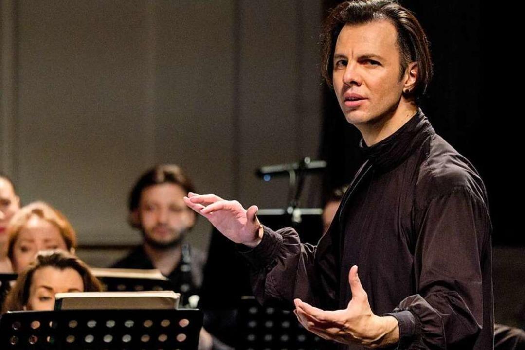 Seit 2018 steht Currentzis an der Spitze des SWR-Symphonieorchesters.    Foto: Anton  Zavyalov