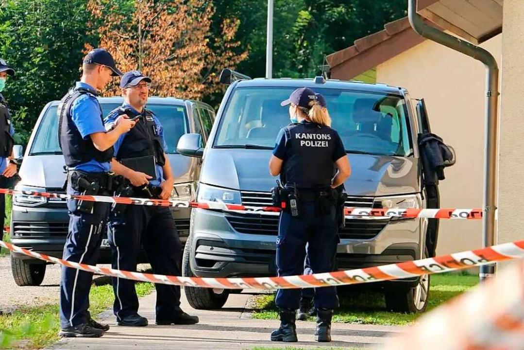 An der Grubenstraße in Frick ermittelt die Kantonspolizei.  | Foto: Dennis Kalt