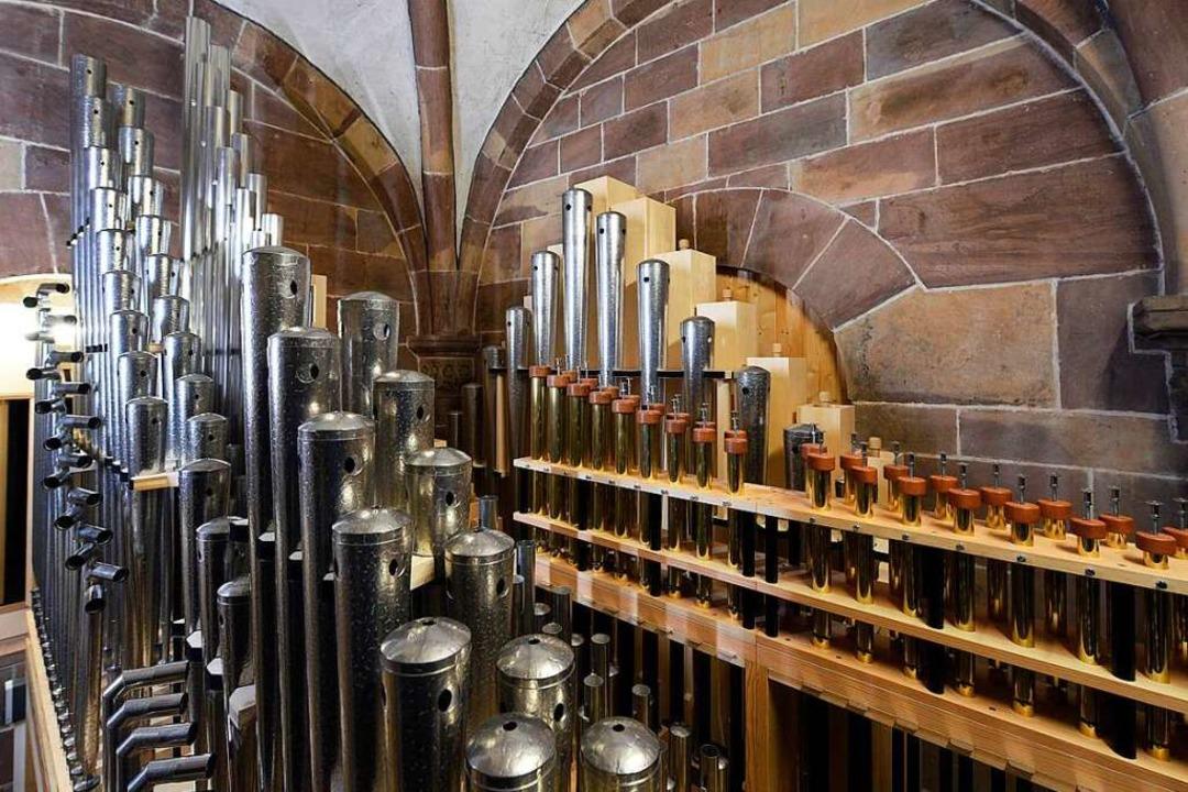 Von außen unsichtbar: das neue sogenannte Auxiliar der Münsterorgeln    Foto: Thomas Kunz