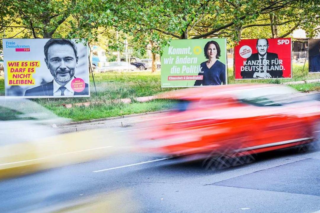 Im Bundestagswahlkampf versprechen Par...Bundesländern und nicht im Bund liegt.  | Foto: Kay Nietfeld (dpa)