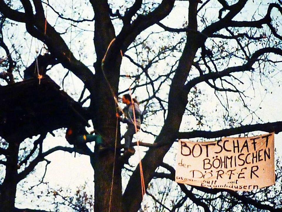 Deutschlands vielleicht erste Baumbese...nther-Park verlief ökologisch korrekt.  | Foto: Privat