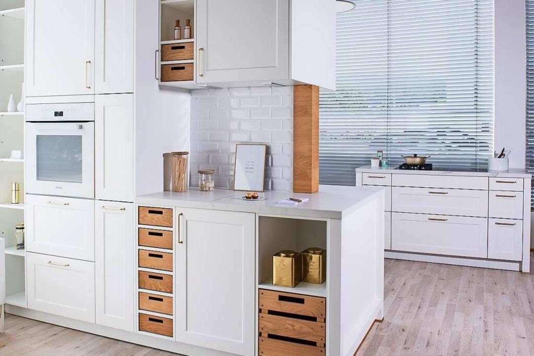 Völlig umgestaltet zeigt sich die Auss...aktuelle Küchen in Augenschein nehmen.  | Foto: Ü-Küchen