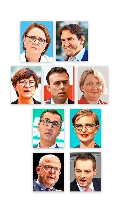 Annette Widmann-Mauz (CDU), Andreas Ju...DP) (von links oben nach rechts unten)  | Foto: dpa