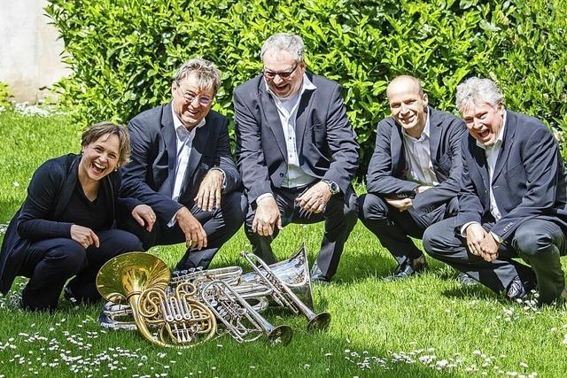 Das Bäserensemble About Brass gibt ein Konzert in der Stadtkirche Waldkirch