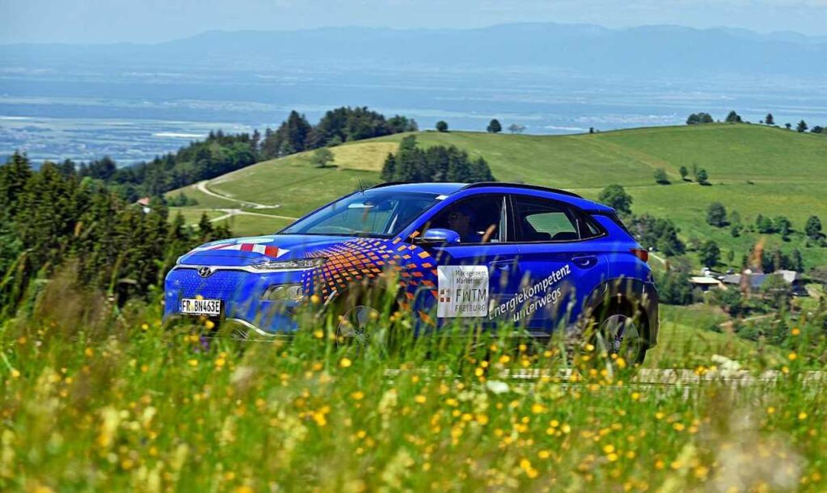 Schon 2019 war der Schauinsland Austra...ort einer Challenge für Elektro-Autos.  | Foto: Michael Bamberger