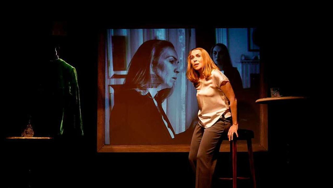 """Brillant: Britta Stallmeister in Poulencs """"La voix humaine""""    Foto: Ann-Marie Najderek"""