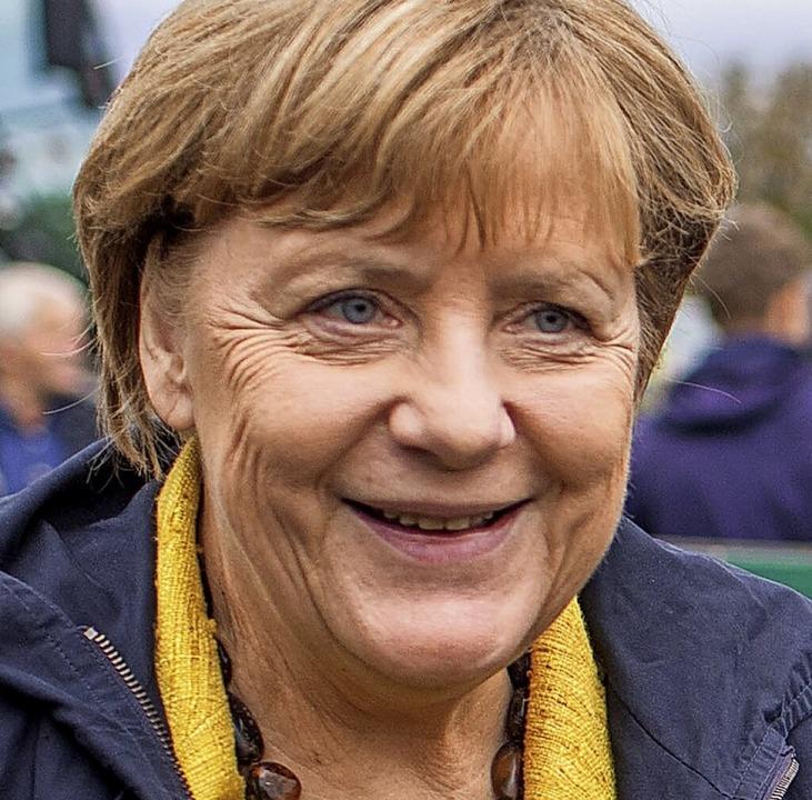 Angela Merkel sagt Tschüs.  | Foto: Jens Büttner