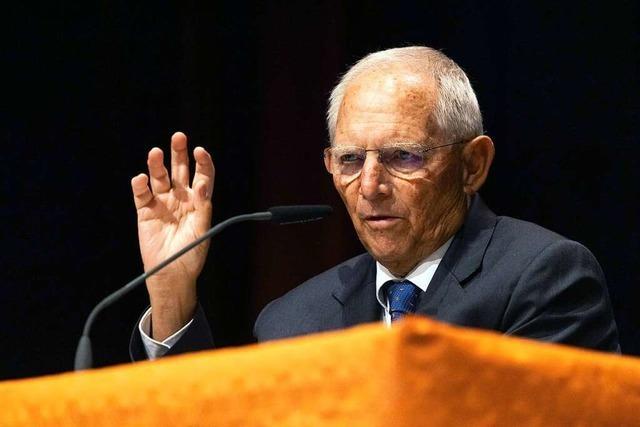 Wolfgang Schäuble (CDU) tritt als dienstältester Abgeordneter im Bundestag erneut zur Wahl an