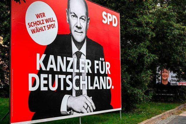 Die SPD liegt in einer Umfrage weiter klar vorn