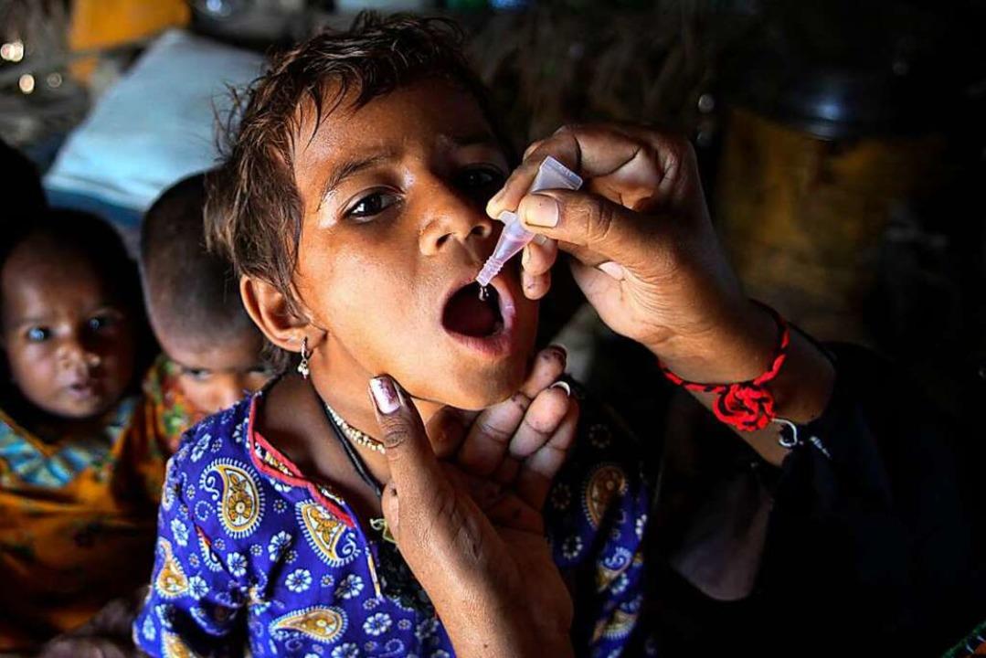 Schluckimpfung bei einem Kind  | Foto: Zaidi