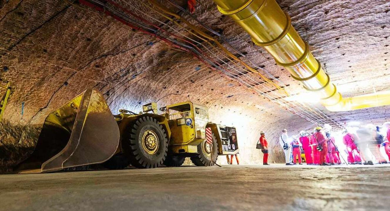 Im Salzbergwerk Gorleben sollte ein En...et. Nun ist dieser Plan aber beerdigt.  | Foto: Philipp Schulze (dpa)