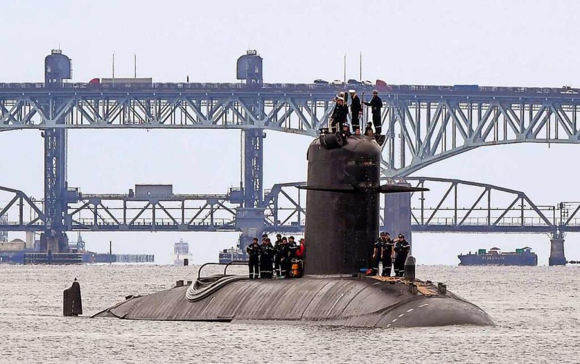 Ein französisches U-Boot mit konventio...ieb – von Australien verschmäht.  | Foto: Chief Petty Officer Joshua Karst (dpa)