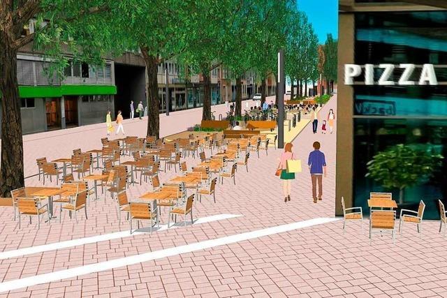 Die neue Gestaltung der Lörracher Innenstadt-Nord kommt gut an