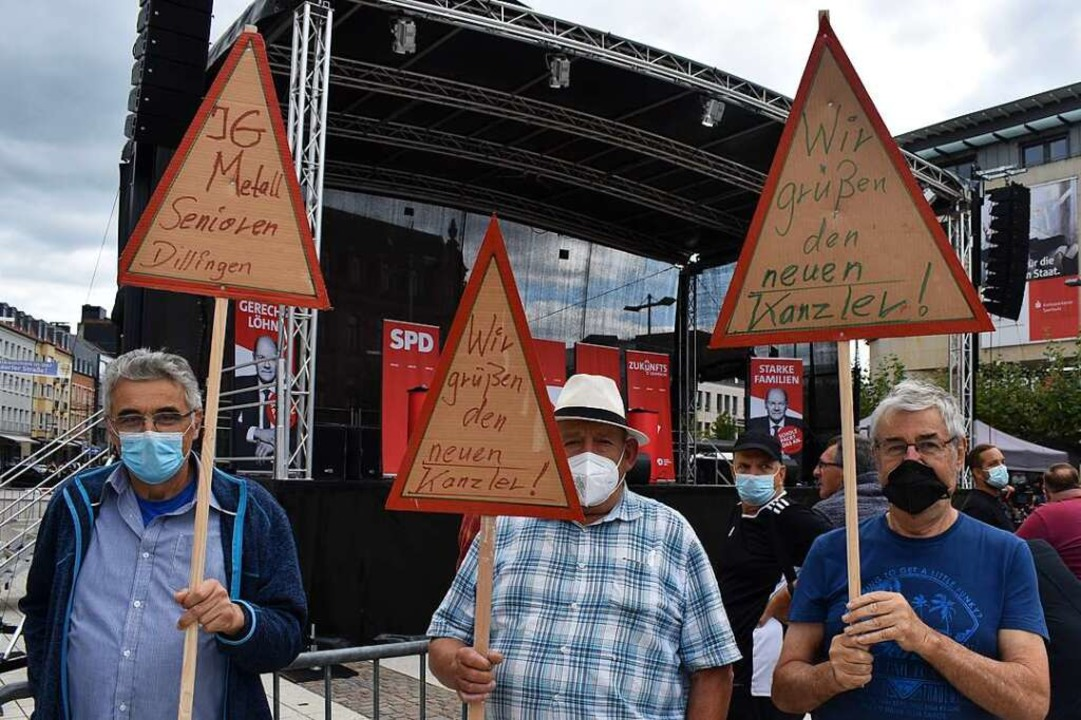 Siegessichere Scholz-Fans  | Foto: Ronny Gert Bürckholdt