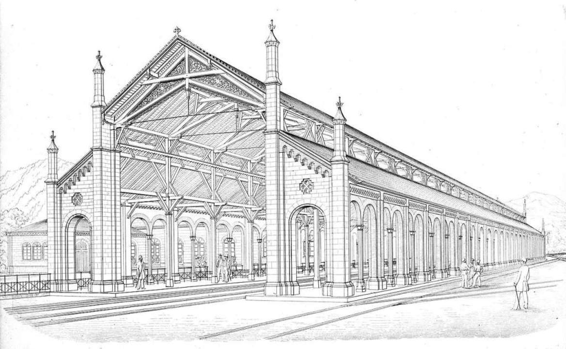 Friedrich Eisenlohr entwarf die Bahnst... die 1845 in Freiburg errichtet wurde.  | Foto: Augustinermuseum