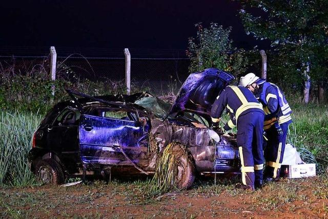 Schwerer Verkehrsunfall in Lahr: Polizei fahndet nach dem Fahrer