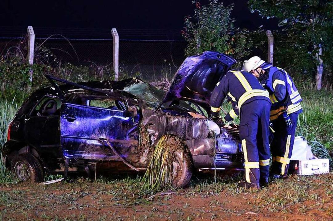 Das beschädigte Auto    Foto: Wolfgang Künstle