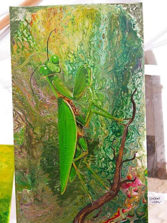 Malereien von Anja Semling aus Breisach  | Foto: Georg Voß