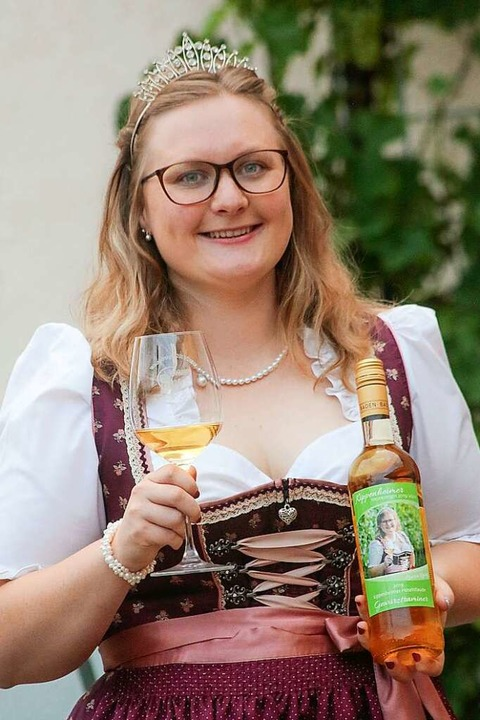 Die Kippenheimer Weinkönigin Laura Lang    Foto: Sandra Decoux-Kone