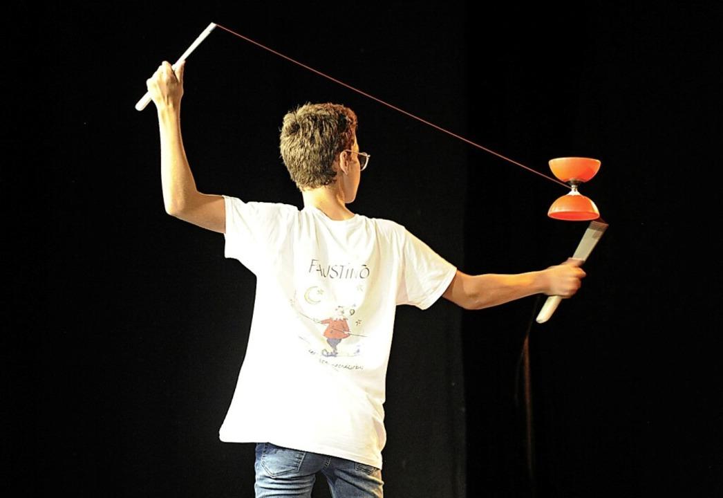 Auch die Akteure vom Zirkus Faustino hatten mal wieder einen Auftritt.    Foto: Bernhard Seitz