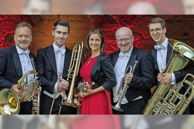 Das Münchner Bläserensemble Harmonic Brass gastiert in Sexau