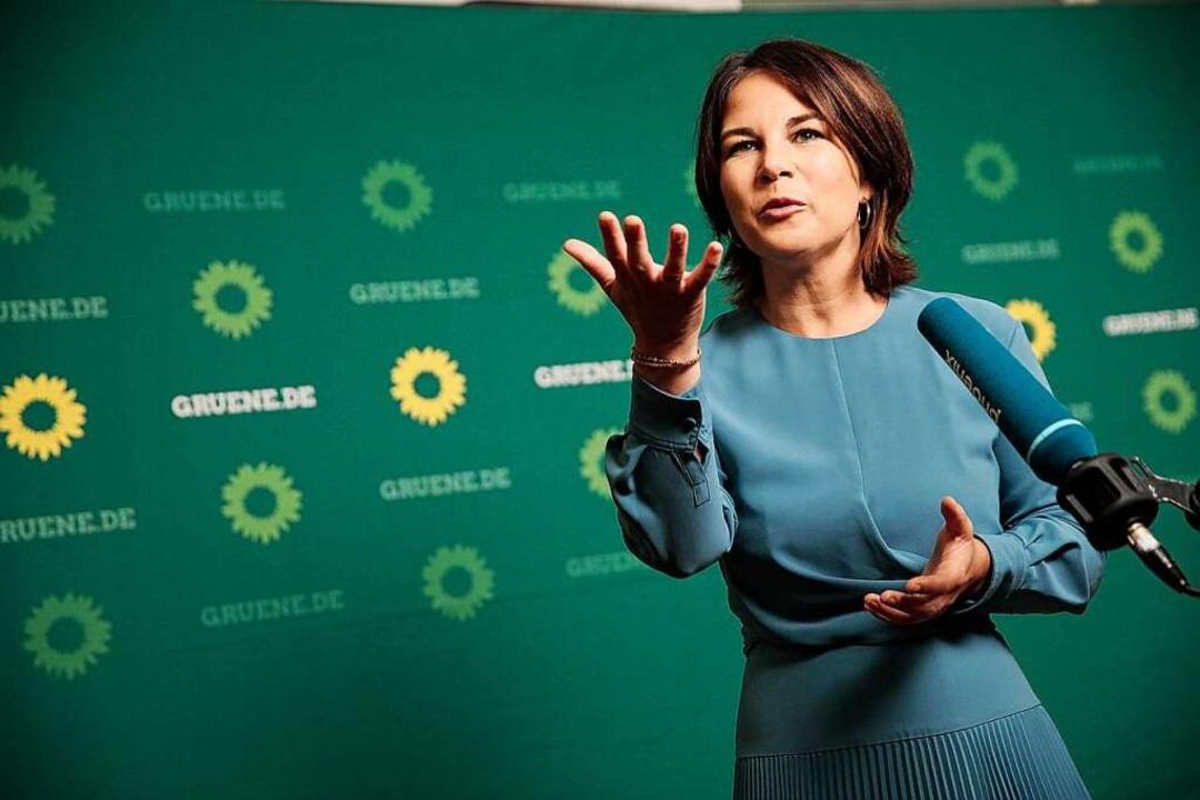 Annalena Baerbock (Bündnis90/Die Grüne...ndesvorsitzende und Kanzlerkandidatin.  | Foto: Carsten Koall (dpa)