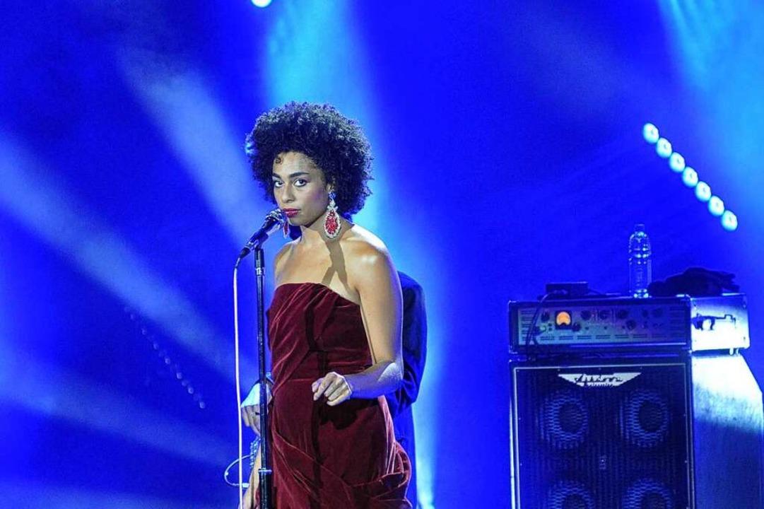 Wird bereits mit großen Vorbildern wie...ste bei ihrem Auftritt in Baden-Baden.  | Foto: Stefan Rother