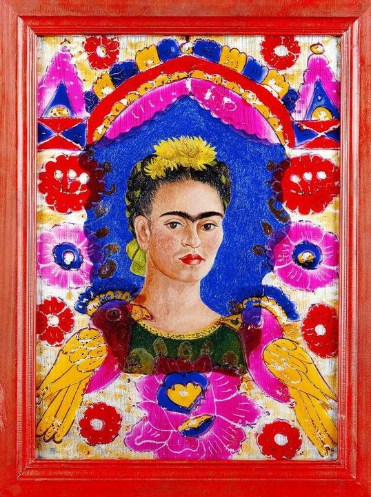 Das Selbstporträt bekommt bei Frida Ka...utung speist sich aus den Accessoires.  | Foto: Banco de México Diego Rivera & Frida K... D.F./ 2021, ProLitteris, Zurich Photo