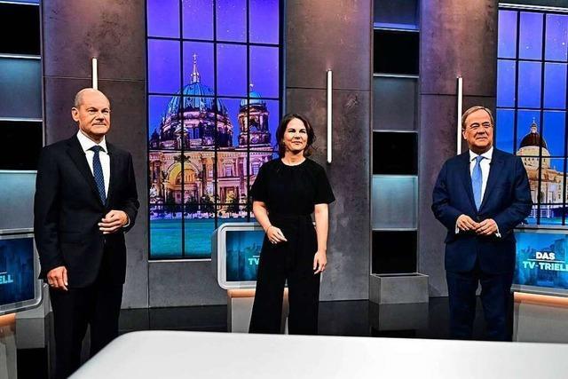 Annalena Baerbock macht im TV-Triell den engagiertesten Eindruck