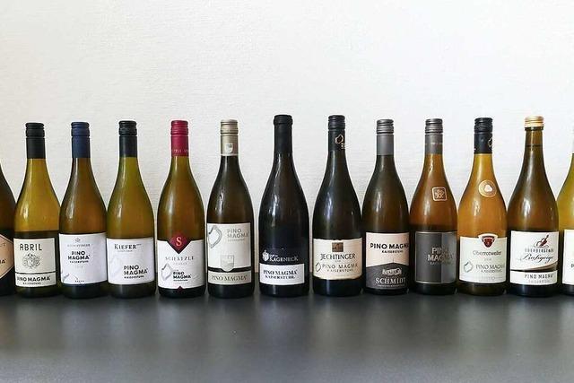 Kaiserstühler Weinmarke Pino Magma liegt