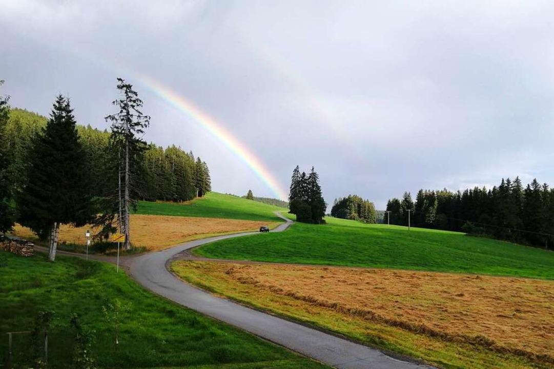 Regenbogen bei Breitnau    Foto: Peter Behnen