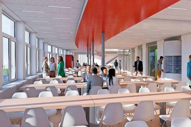 Mensa der Universität am Freiburger Flugplatz wird erweitert