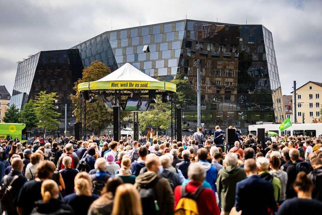 Wahlkampf der Grünen in Freiburg    Foto: Philipp von Ditfurth (dpa)