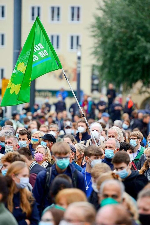 Wahlkampf der Grünen in Freiburg    Foto: Ingo Schneider