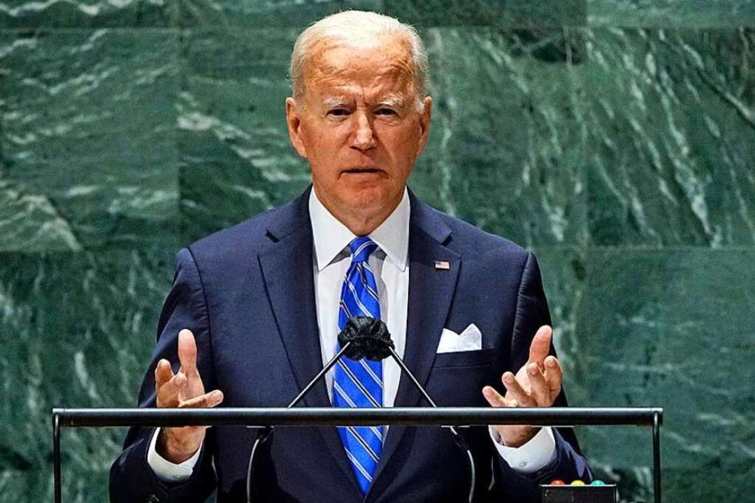 Will auch über Corona-Impfstoffe und K...Länder sprechen: Joe Biden in New York  | Foto: Eduardo Munoz (dpa)
