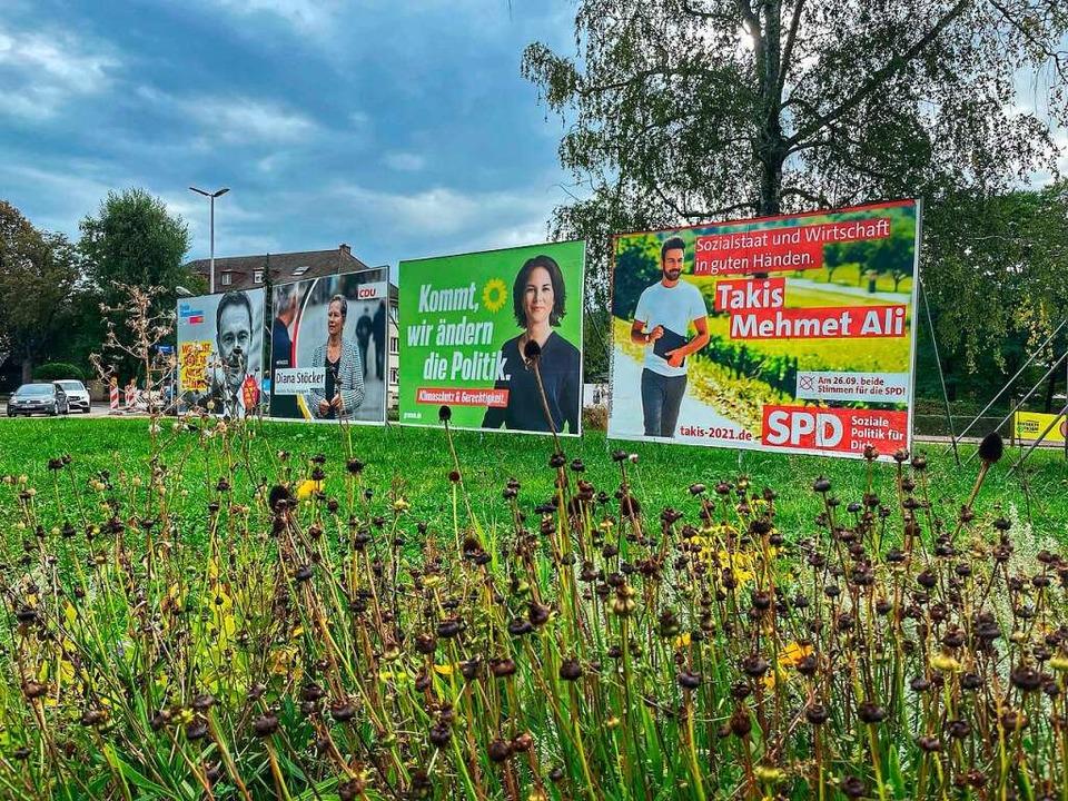 Aus dem Zweikampf zwischen Grün und Sc...ten in Sachen Direktmandat verschiebt.  | Foto: Barbara Ruda