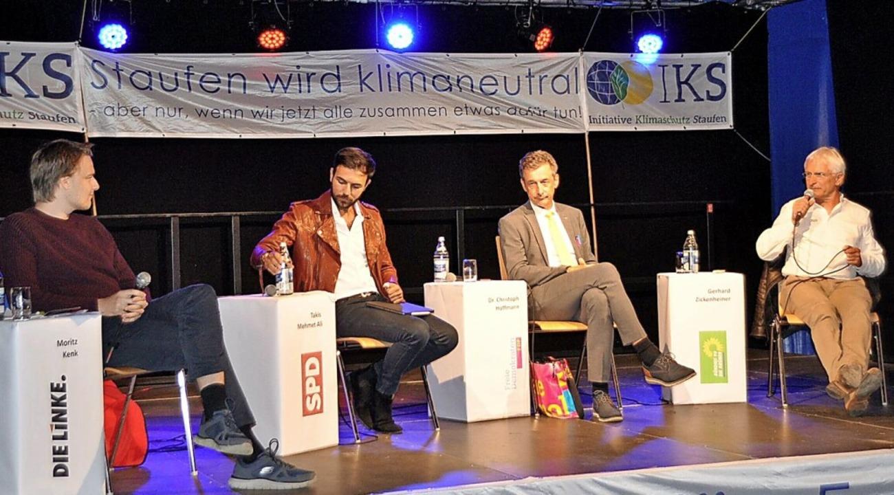 Wieder auf dem Podium, diesmal zum The...toph Hoffmann und Gerhard Zickenheiner    Foto: Rainer Ruther