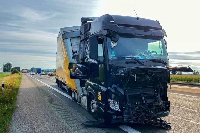 Lkw-Unfall auf der A5 bei Herbolzheim sorgt für lange Staus